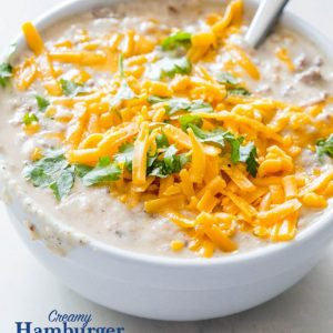 Creamy Hash Brown Hamburger Soup