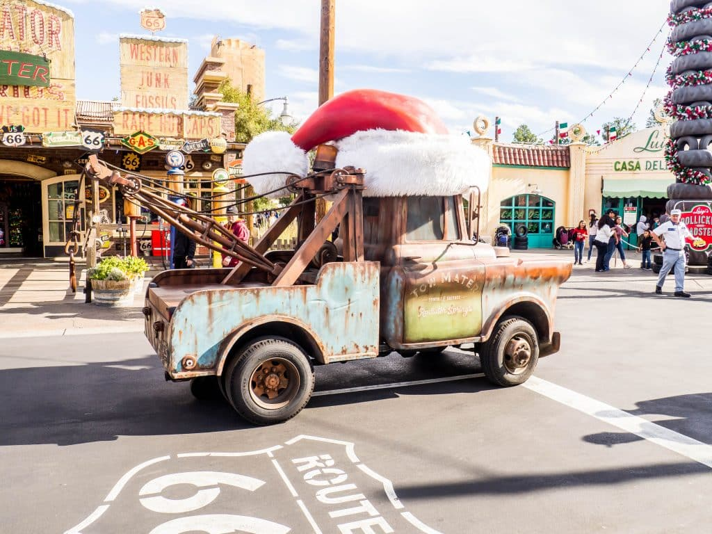 Christmas Mater, Disney's California Adventure