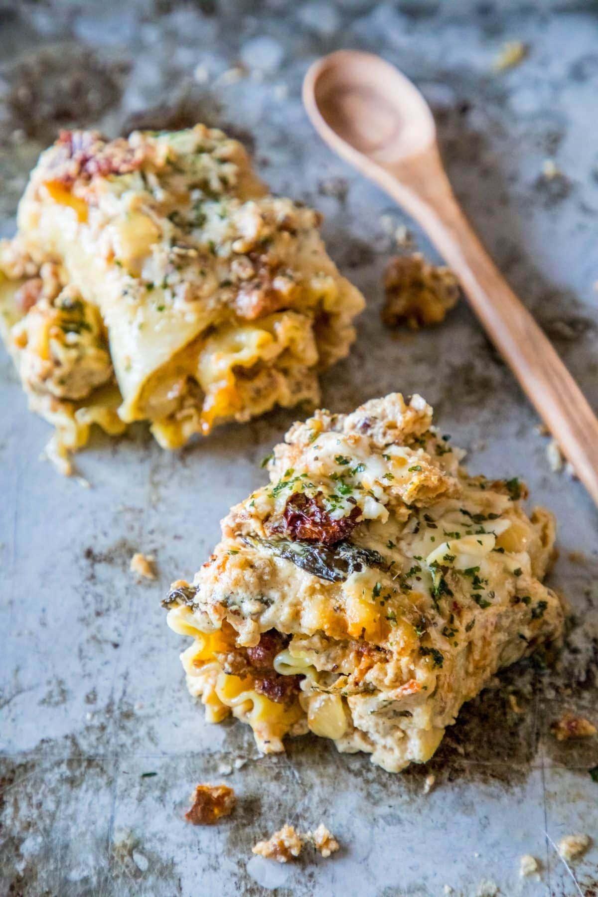 Sausage Alfredo Lasagna Roll Ups {Sweet C's}
