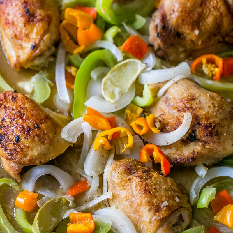 Mojo Chicken with Fajita Vegetables