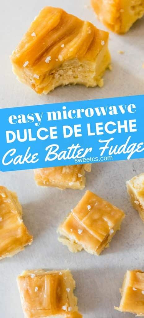 dulce de leche microwave fudge