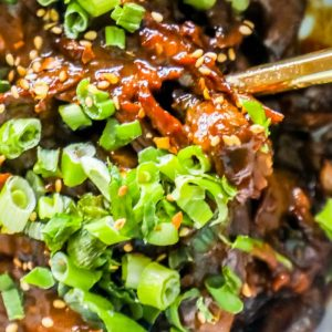 Skinny Mongolian Beef (Instant Pot – Paleo/Whole 30 Friendly)