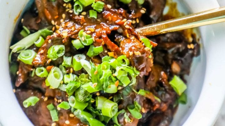 Skinny Mongolian Beef (Instant Pot - Paleo/Whole 30 Friendly)