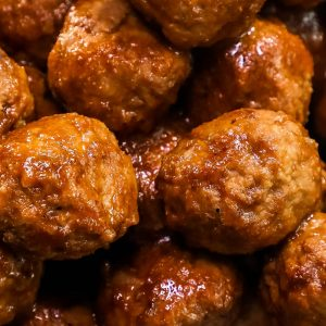 Slow Cooker Whiskey BBQ Meatballs