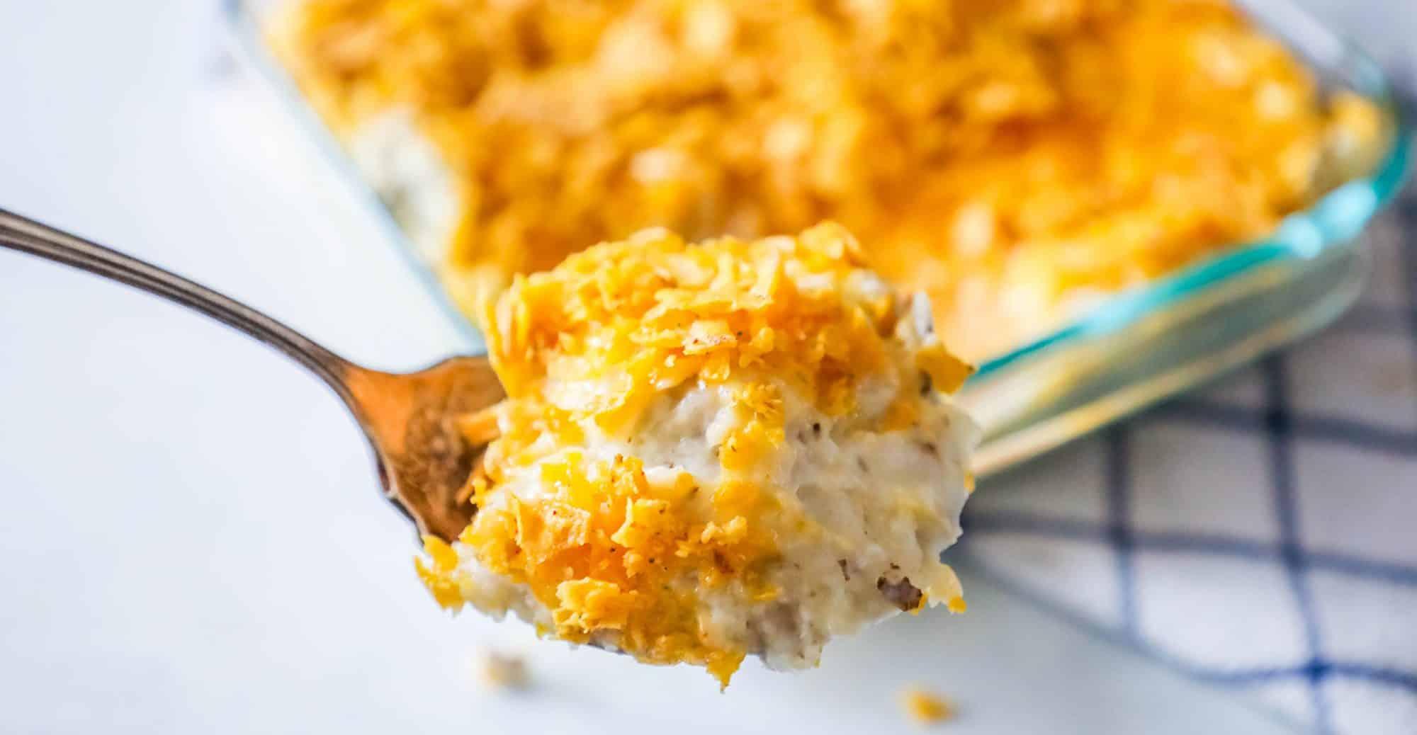 Cheesy Ranch Chip Potato Casserole - Sweet C's Designs