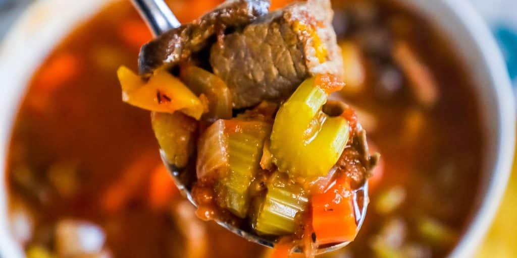 Instant Pot Skinny Steak Soup – Just 3 Points!