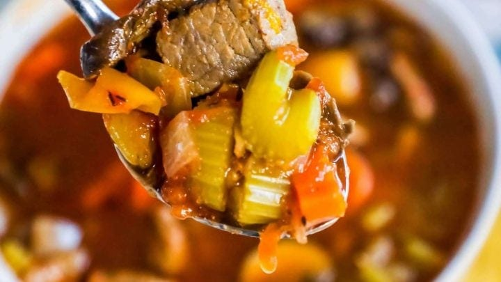 Instant Pot Skinny Steak Soup - Just 3 Points!