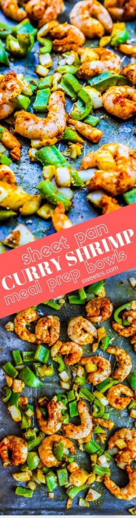 Sheet Pan Curry Shrimp Meal Prep Bowls Sweet Cs Designs