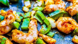 Sheet Pan Curry Shrimp Meal Prep Bowls
