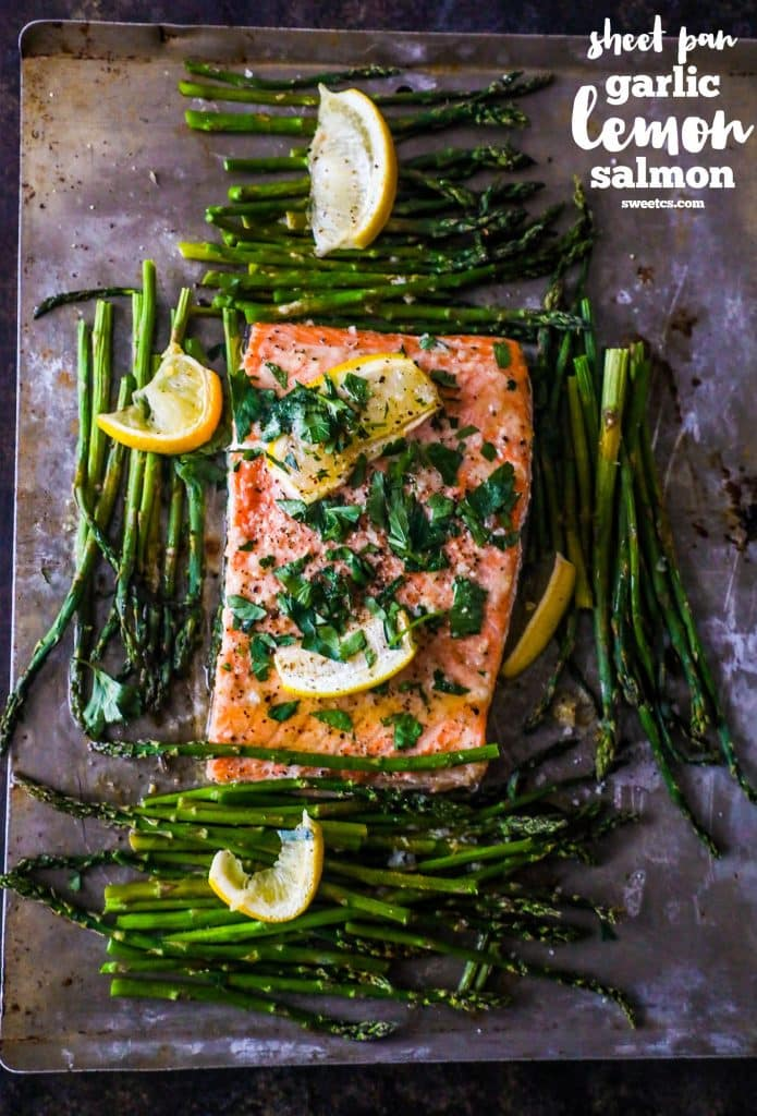 Sheet Pan Garlic Lemon Salmon