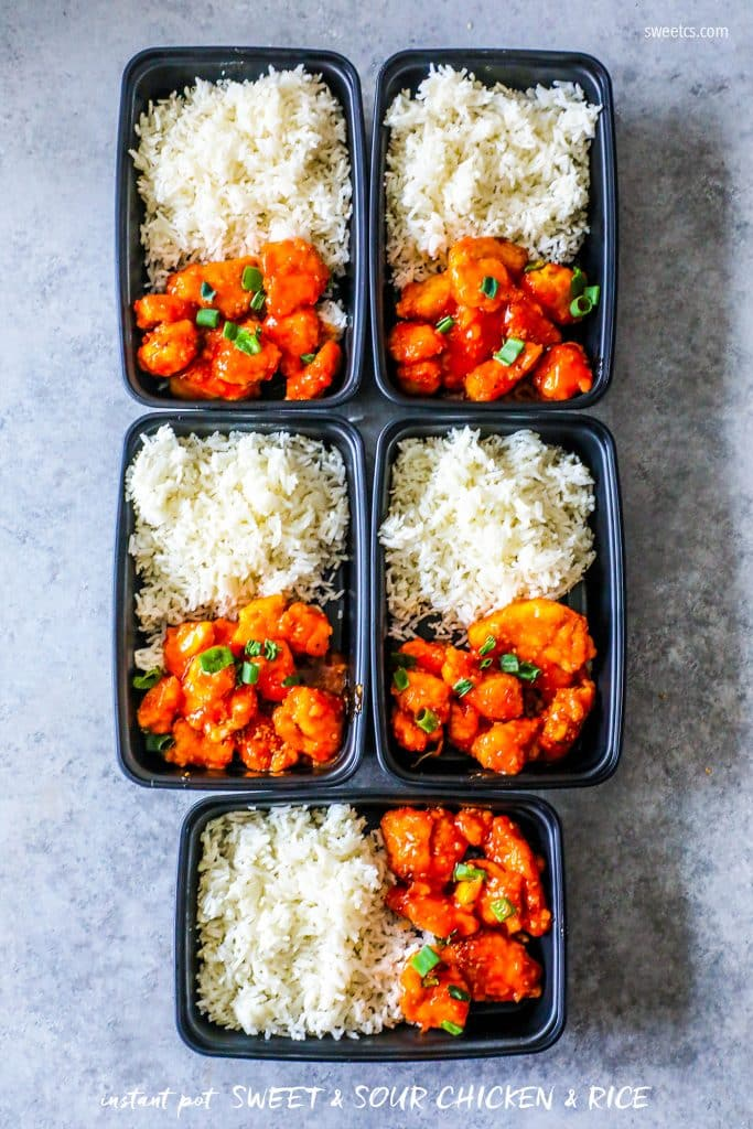 Instant Pot Sweet and Sour Chicken Meal Prep Bowls