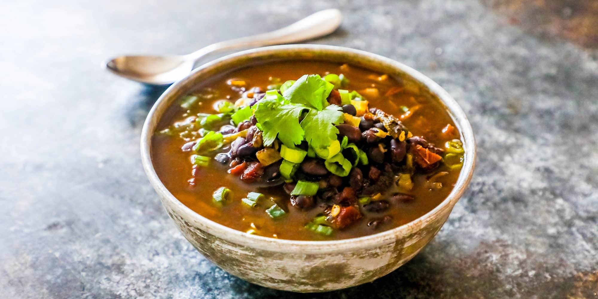 Spicy Black Bean Soup - Sweet Cs Designs