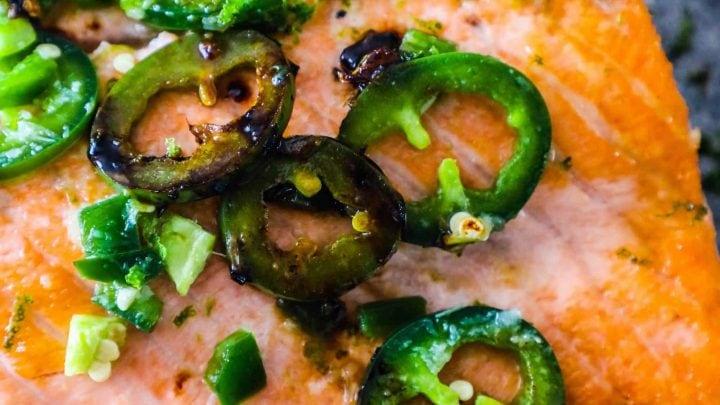 Honey Lime Jalapeno Salmon