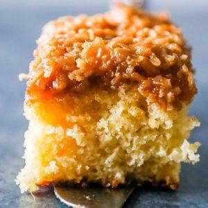Danish Dream Cake – Easy Coconut Caramel Cake