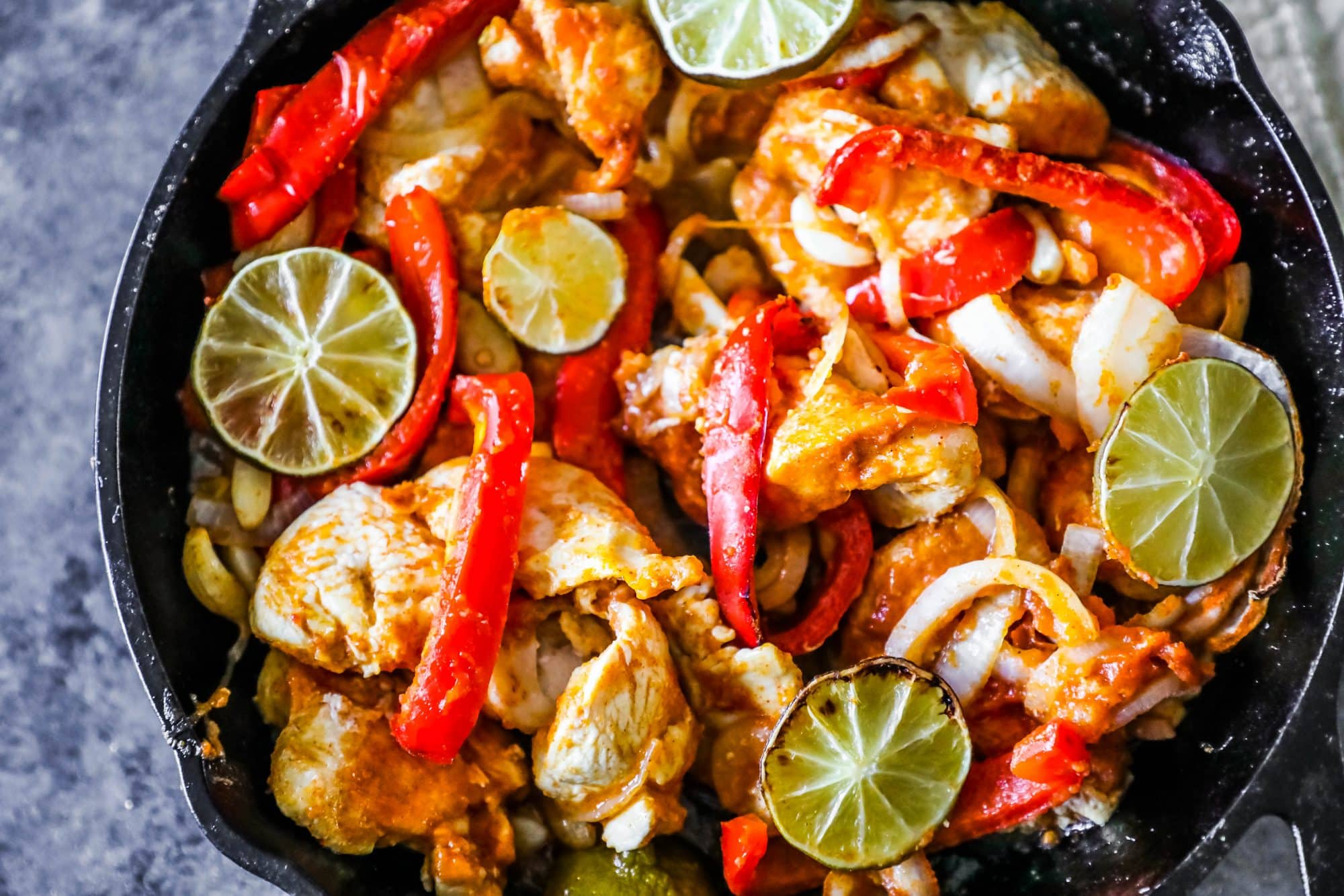 how to cook chicken fajitas in a skillet