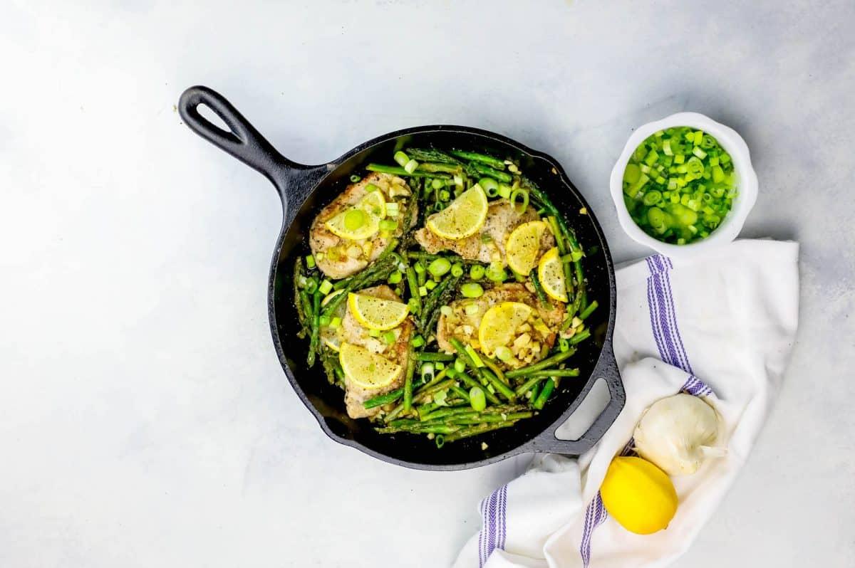 pork with lemon asparagus garlic