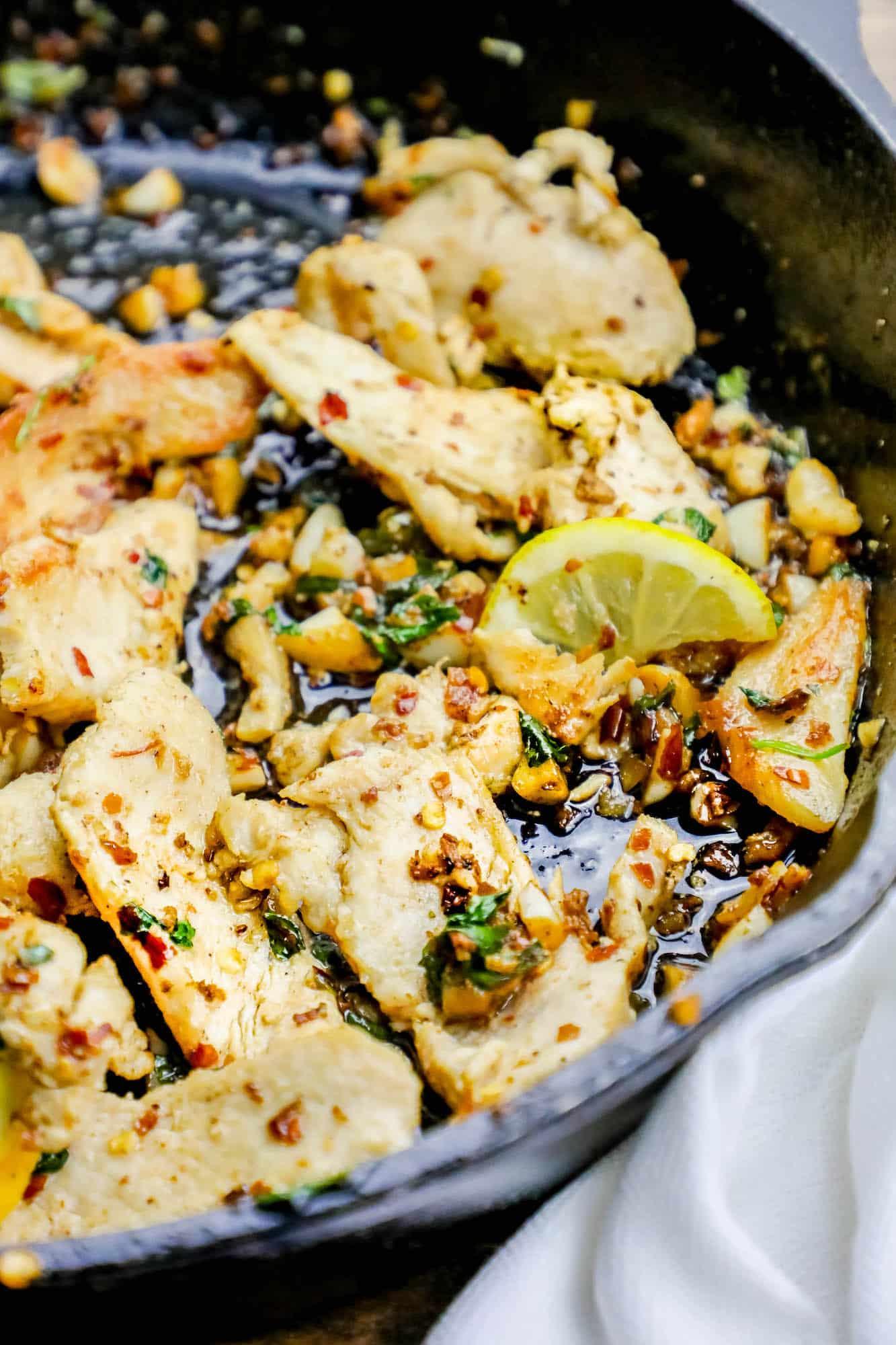 Chicken garlic strip recipe the
