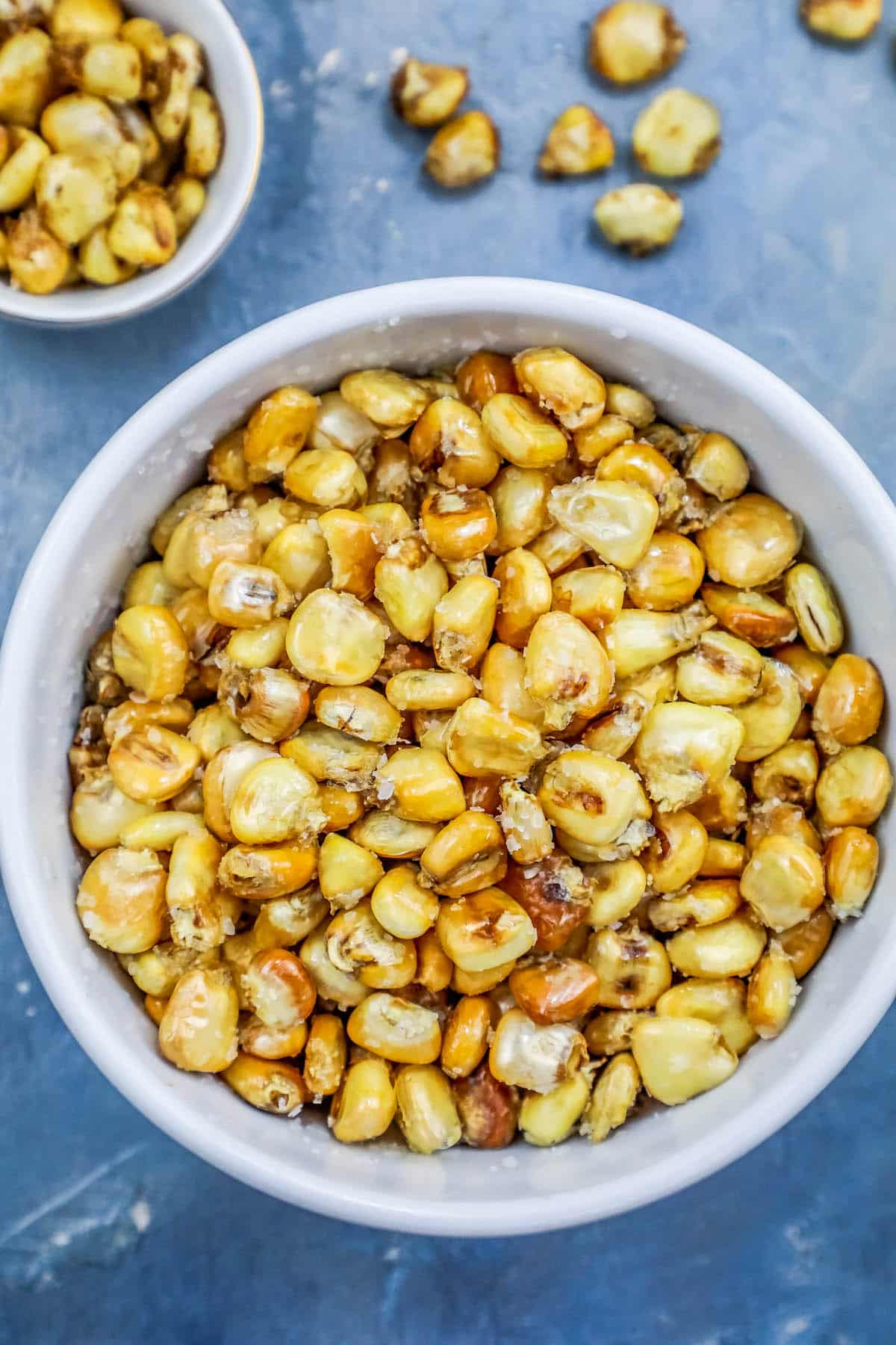 picture of homemade corn nuts in a bowl