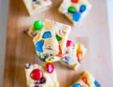 Candy Cookie Dough Fudge