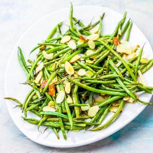 Sheetpan Roasted Green Beans Almondine