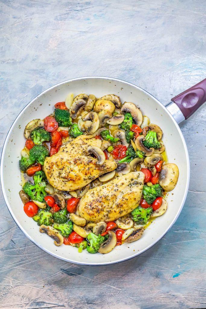 One Pot Italian Chicken And Vegetables Skillet Dinner