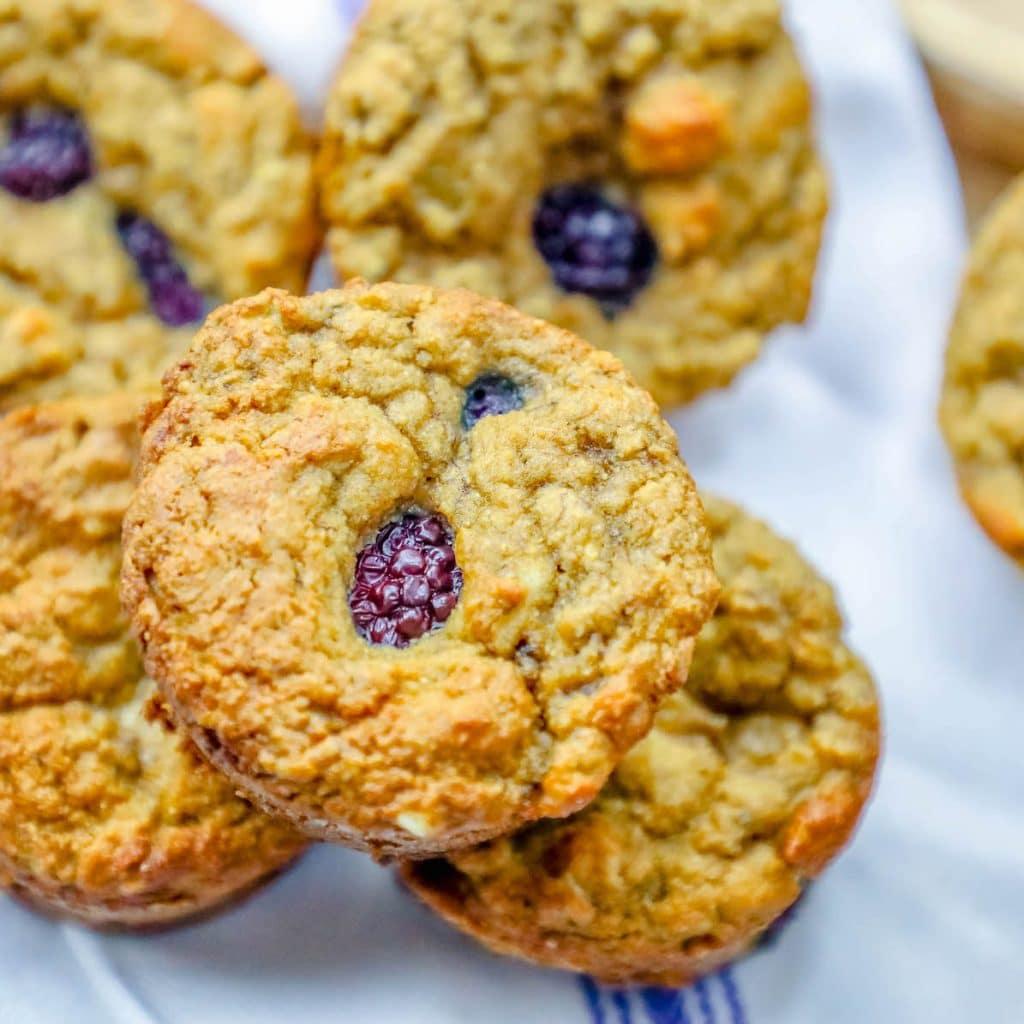 Low Carb Coconut Flour Berry Muffins