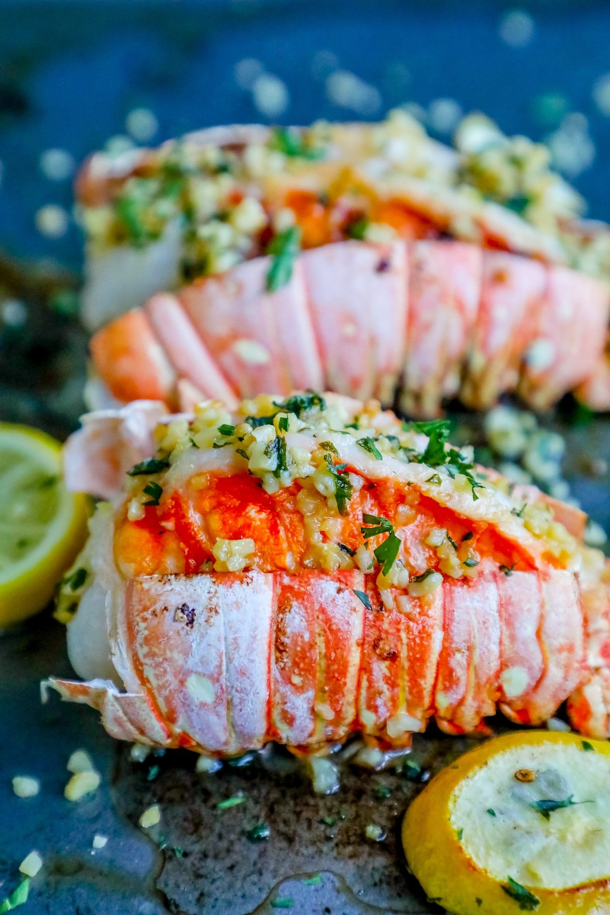 lobster tails, how to cook lobster, valentines lobster dinner, easy lobster, oven lobster, how to cook lobster in the oven, easy lobster tails, lemon garlic butter lobster tails, lemon garlic lobster,