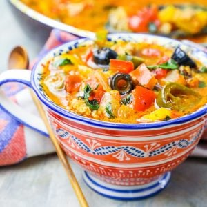 One Pot Cheesy Chicken Taco Skillet Soup