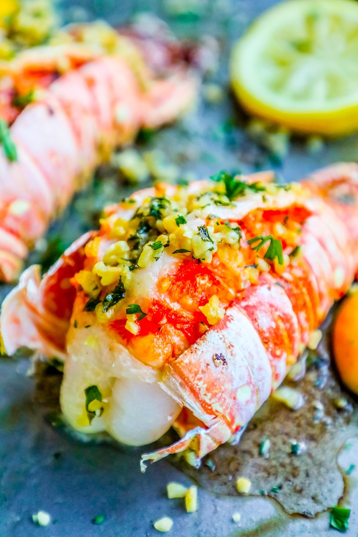 lobster tails, how to cook lobster, valentines lobster dinner, easy lobster, oven lobster, how to cook lobster in the oven, easy lobster tails, lemon garlic butter lobster tails, lemon garlic lobster, lobster tail recipe