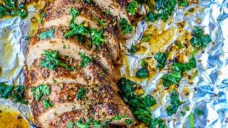 The Best Baked Garlic Pork Tenderloin