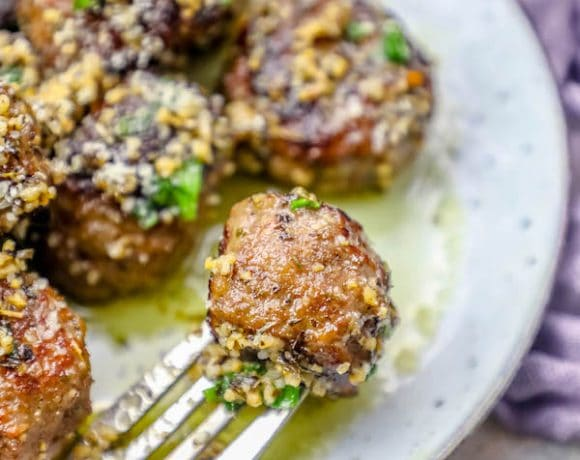 Garlic Butter Parmesan Meatballs