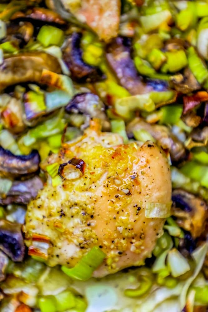 Easy Sheet Pan Oven Roasted Chicken And Leeks Recipe