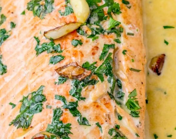 One Pot Irish Whiskey Glazed Salmon Recipe