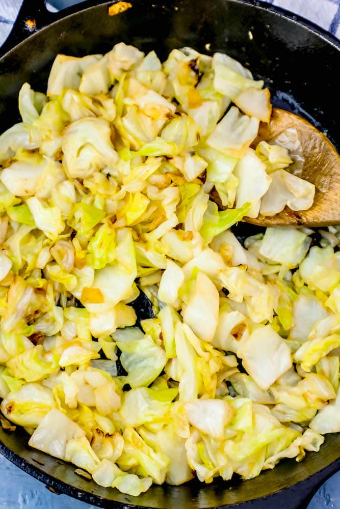 Pan Fried Cabbage and Onions Recipe