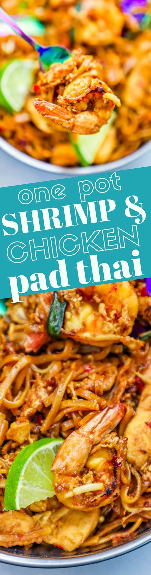 The best easy chicken and shrimp pad thai noodles recipe to see me make this easy pad thai recipe please click to watch the video below forumfinder Choice Image