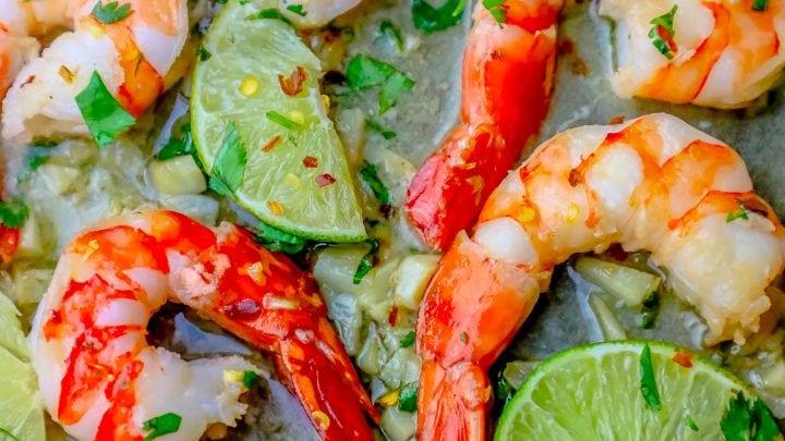 Cilantro Lime Shrimp Skillet
