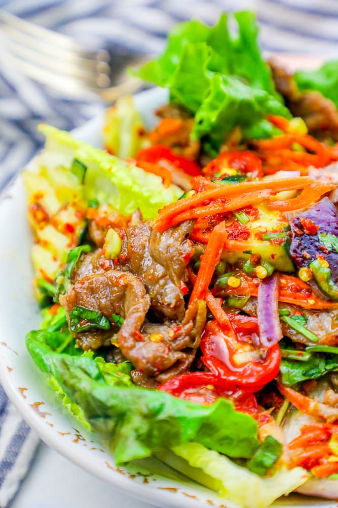 Easy cold spicy thai beef salad recipe thai food takeout copycat to make this spicy thai beef salad recipe youll need forumfinder Image collections
