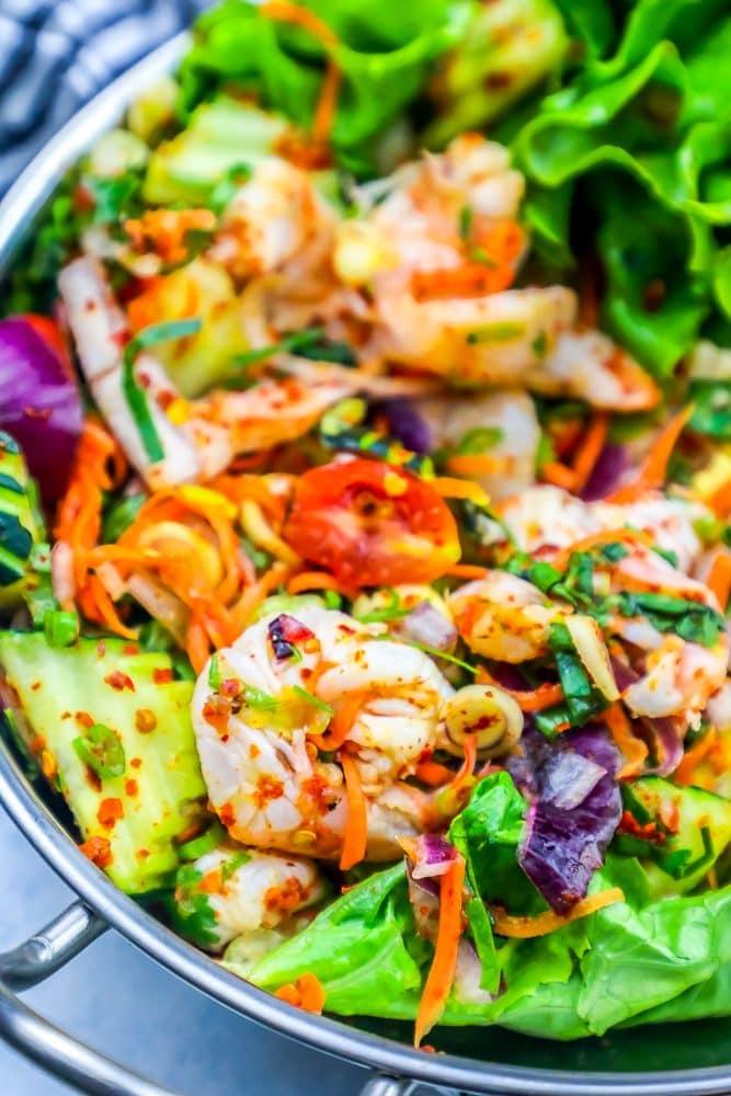 Spicy Thai Shrimp Salad Recipe Sweet Cs Designs