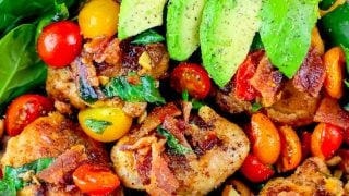 The Best Bacon Lettuce Avocado Tomato Chicken Thigh Salad Recipe Ever