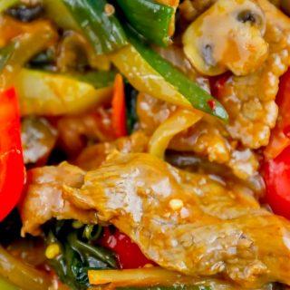 The Best Easy Thai Basil Beef Stir Fry Recipe