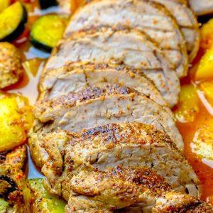 The Best Blackened Pork Tenderloin and Vegetables Recipe