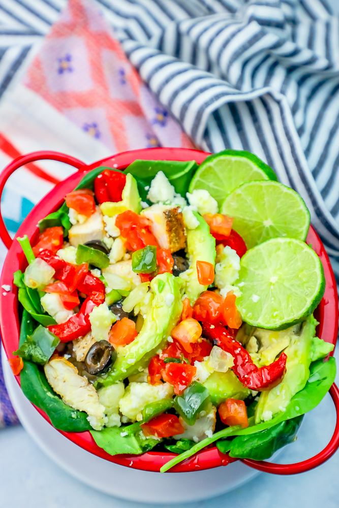 The Best Easy Chicken Taco Salad Recipe Sweet Cs Designs