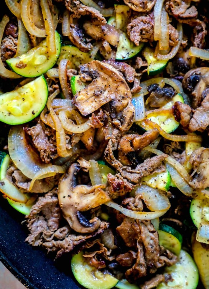 Easy Sirloin Skillet with Vegetables Recipe