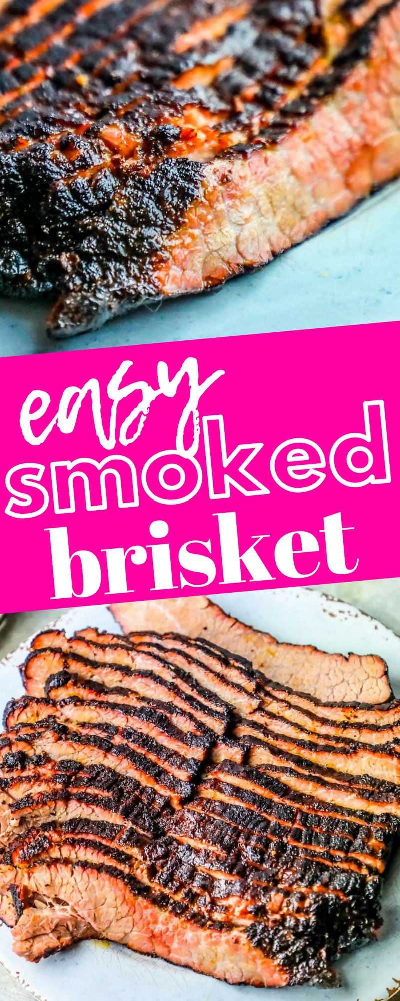 picture of smoked brisket sliced on a plate