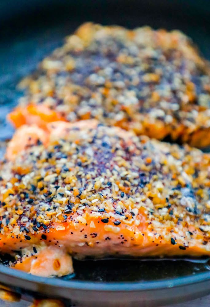 Easy Baked Everything Salmon Recipe Sweet Cs Designs