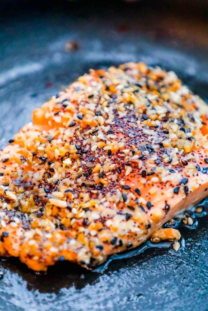 Baked Everything Bagel Salmon Recipe