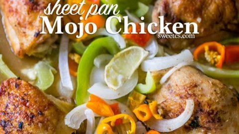 Sheet Pan Mojo Chicken and Fajita Vegetables