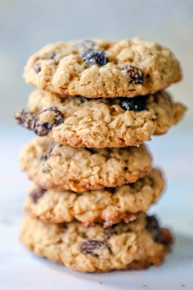 The Best Chewy Oatmeal Raisin Cookies Recipe - Sweet Cs