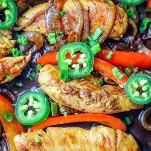 The Best One Pot Chicken Fajitas