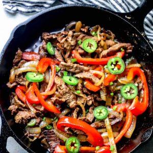 The Best One Pot Steak Fajitas Ever Recipe